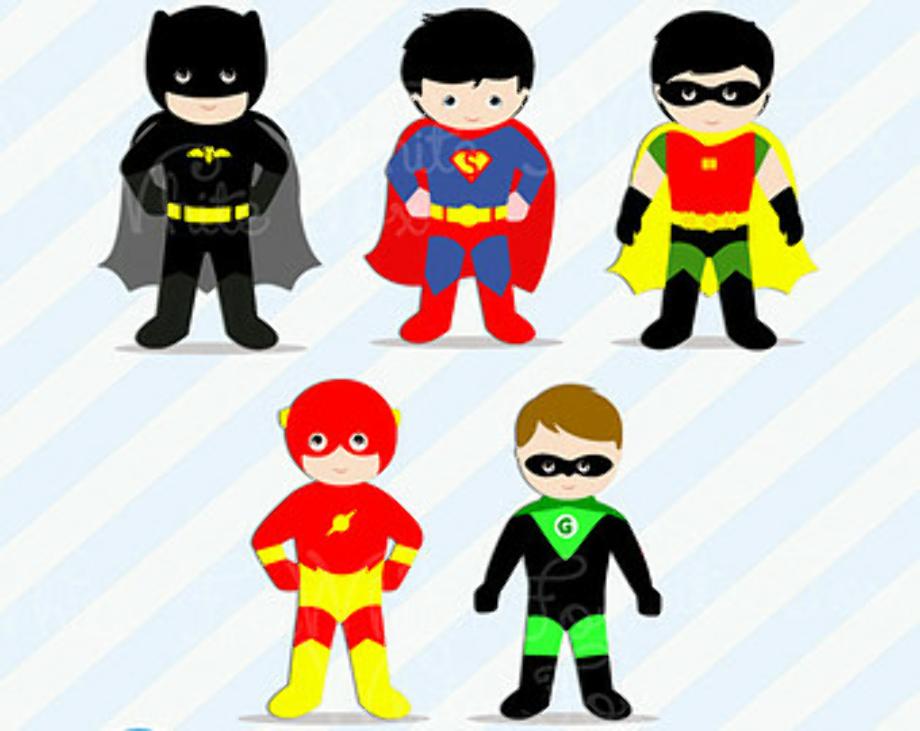 superhero clipart printable