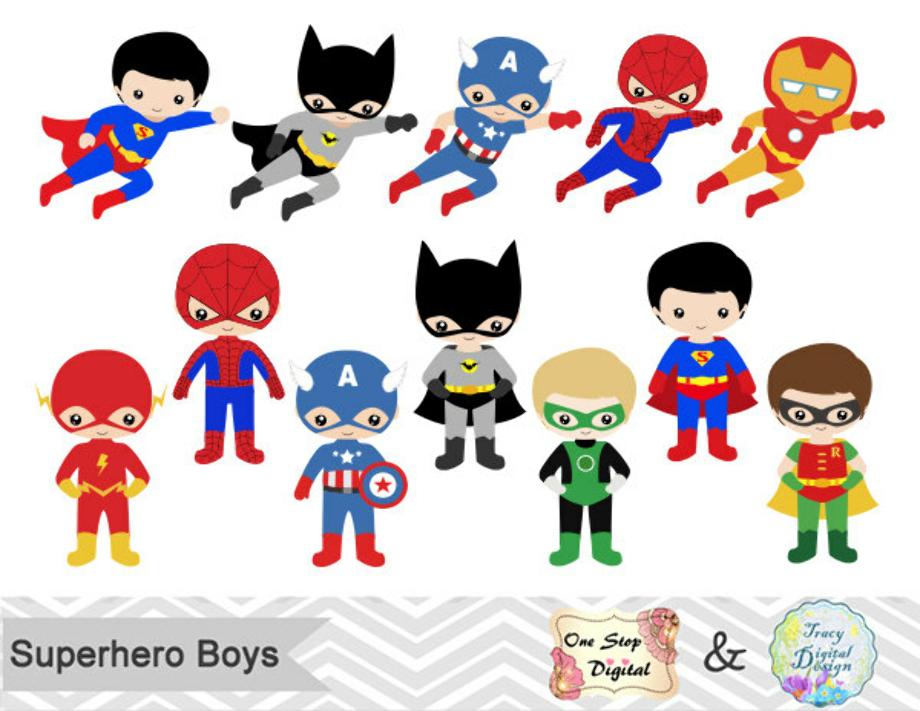 superhero clipart cute