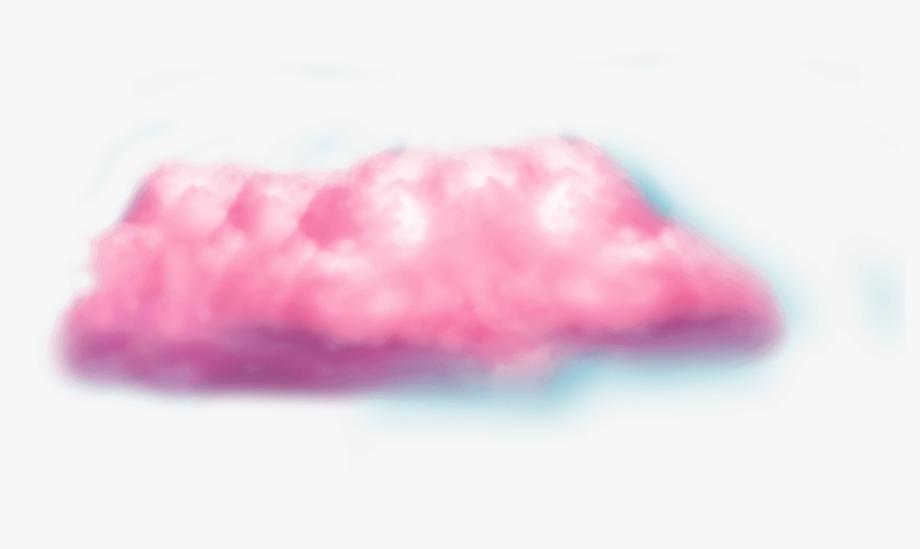 Cloud transparent pink