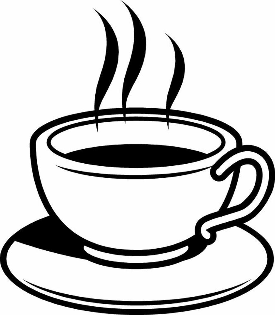 coffee clipart silhouette