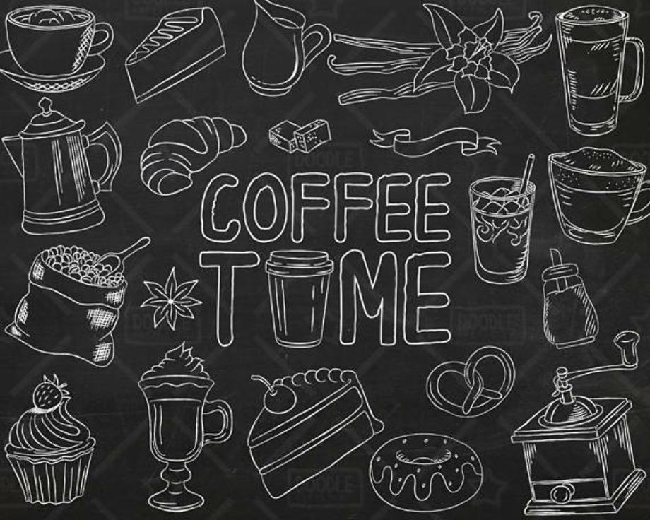 coffee clipart chalkboard
