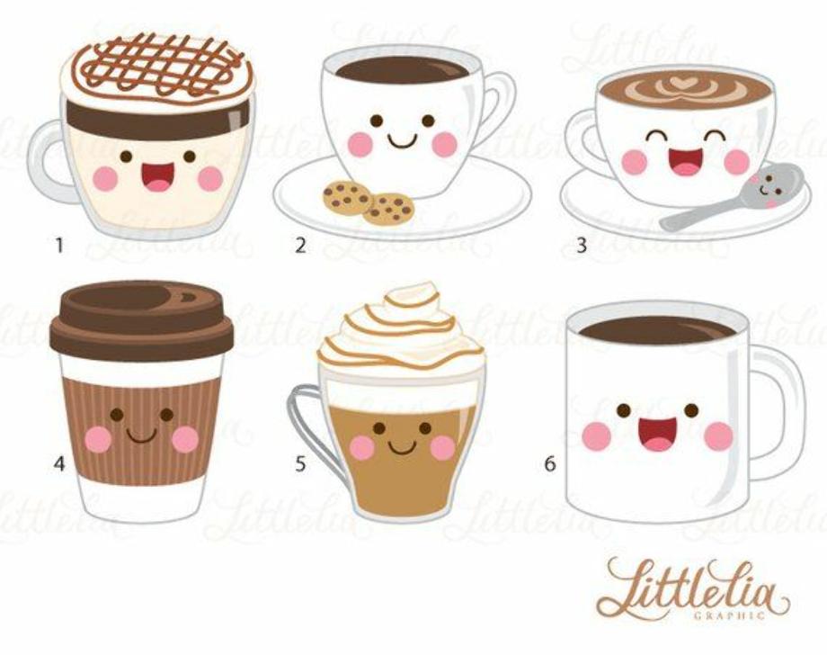 coffee clipart cute