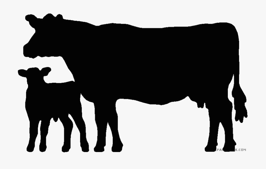 Cow Clipart Silhouette