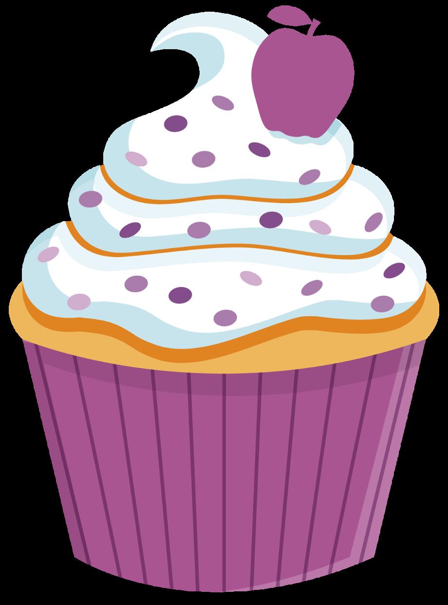 cupcake clipart rainbow