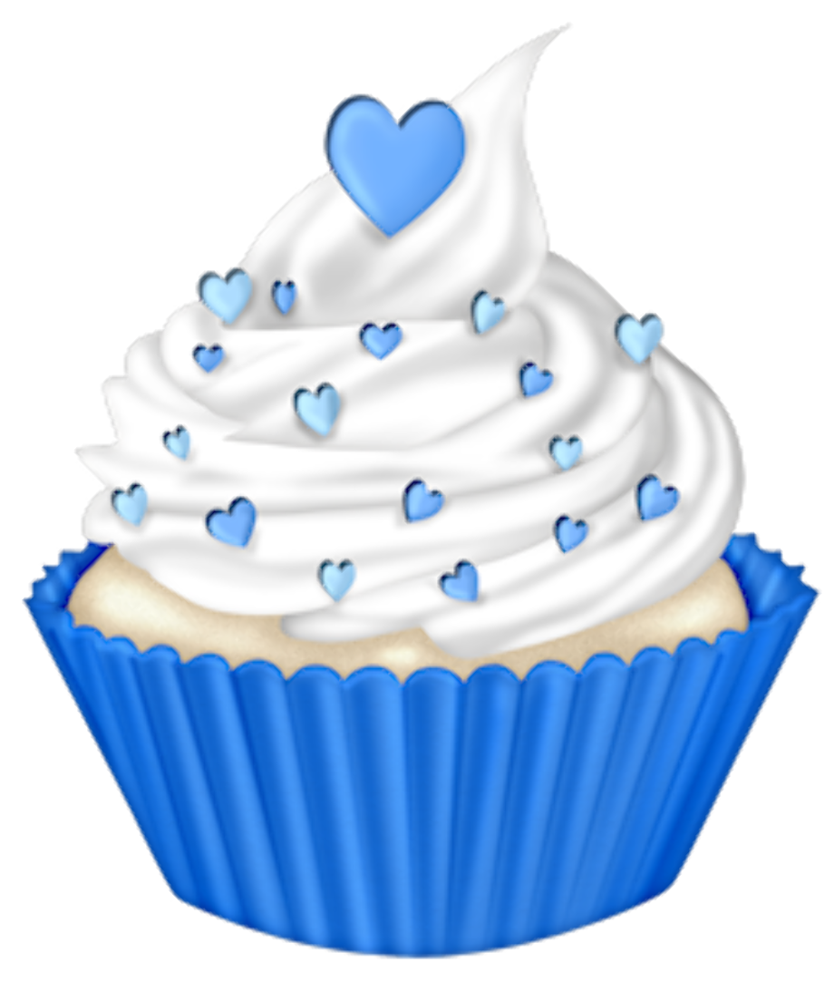 cupcake clipart blue