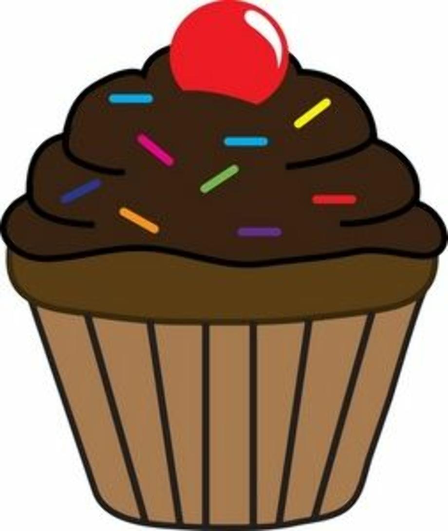 cupcake clipart chocolate