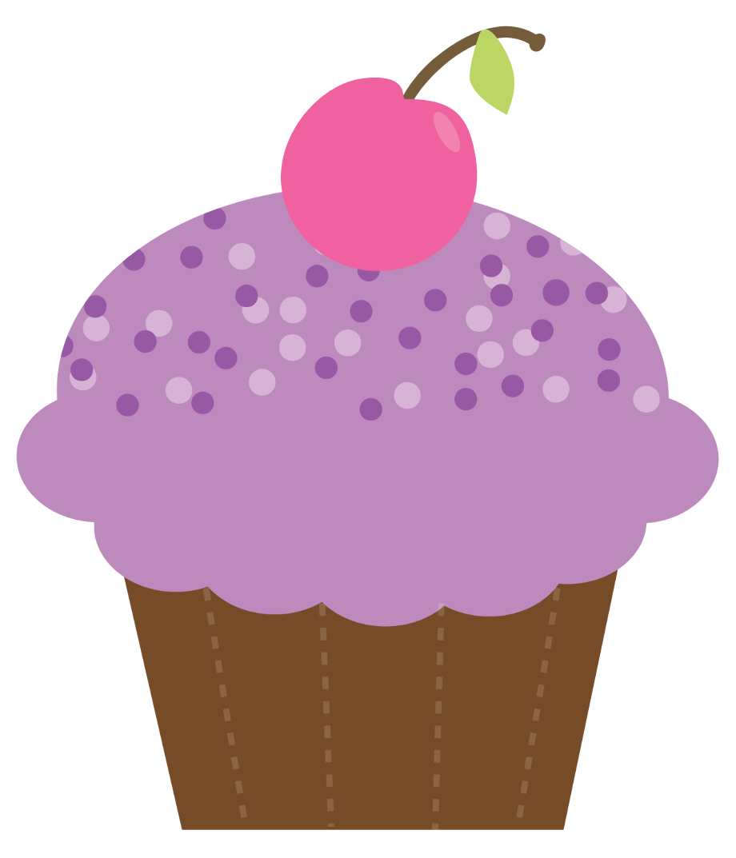 cupcake clipart purple