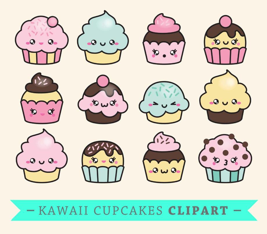 cupcake clipart kawaii