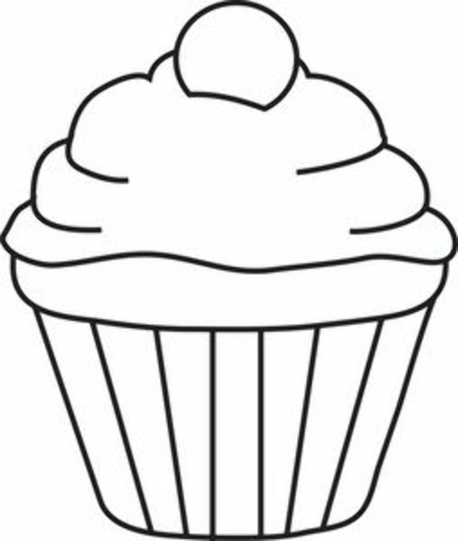 cupcake clipart white