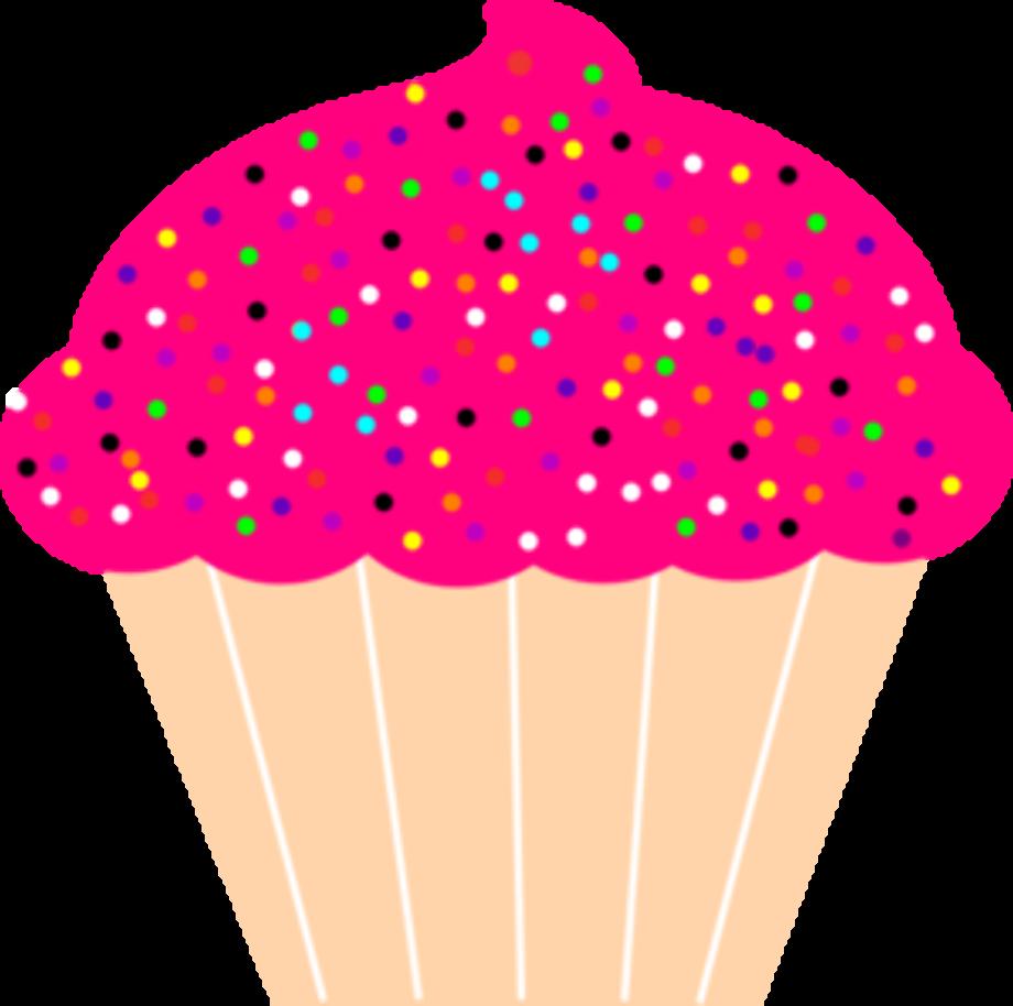 cupcake clipart pink