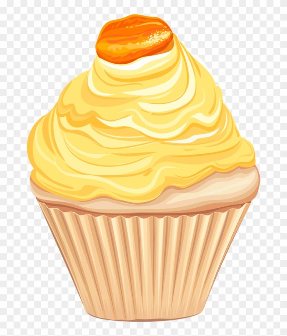 cupcake clipart yellow