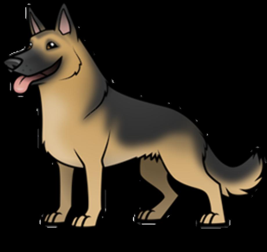 Dog clipart german shepherd cartoon