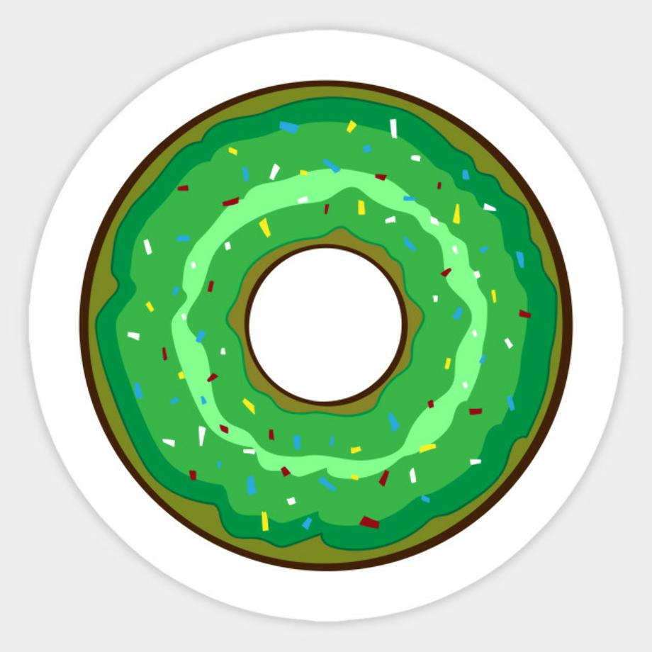 Download High Quality donut clip art green Transparent PNG ... (920 x 920 Pixel)