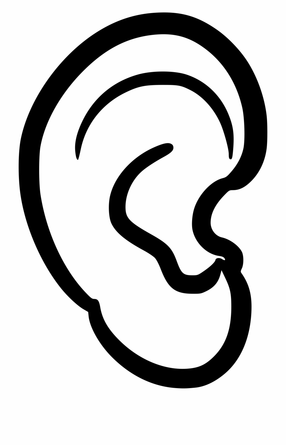 ear clipart black and white
