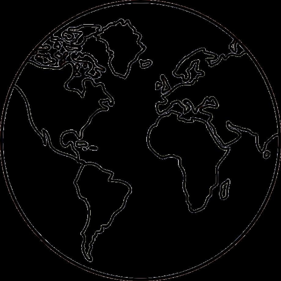 Earth transparent outline