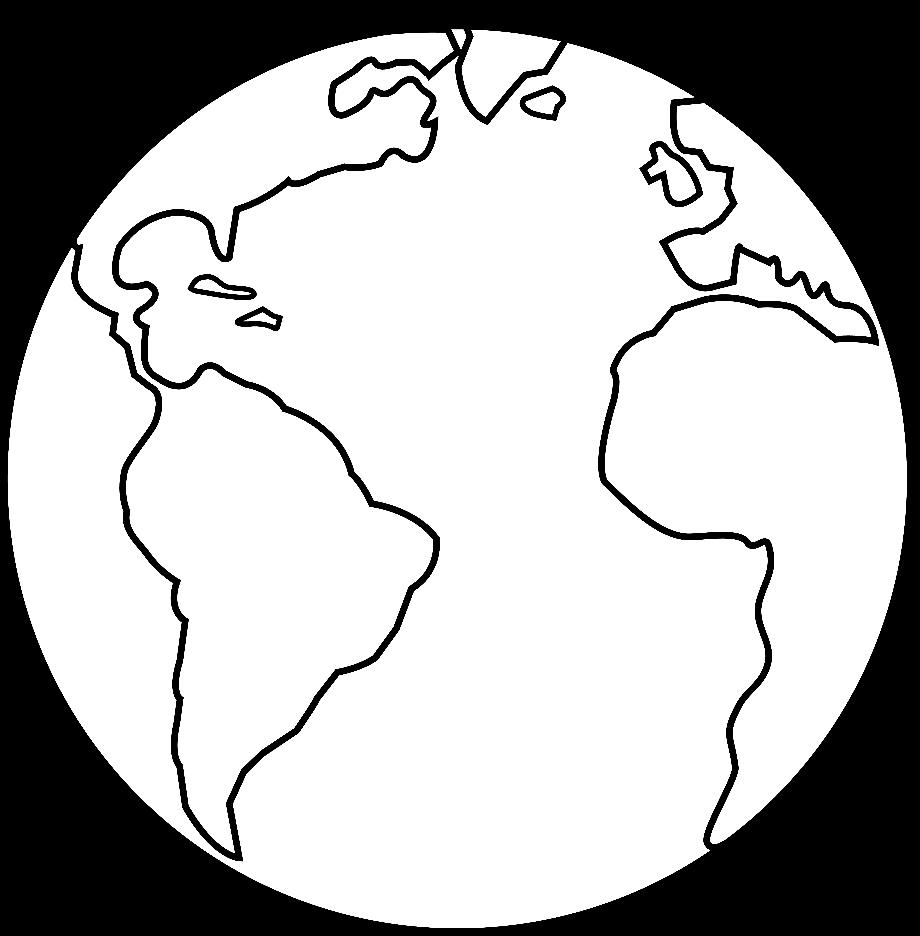 Earth transparent outline clipart
