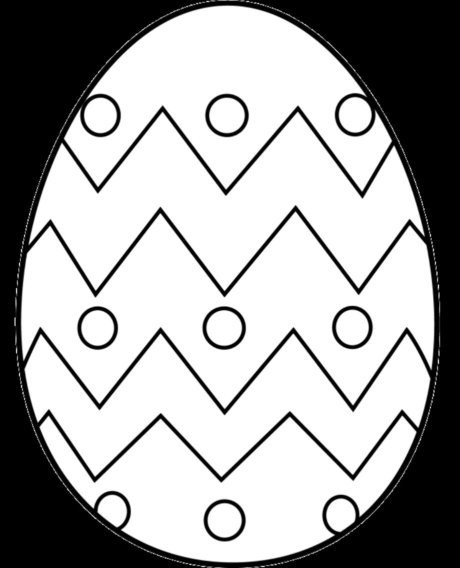 easter egg clipart black