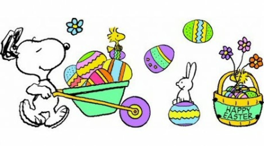 spring clipart snoopy