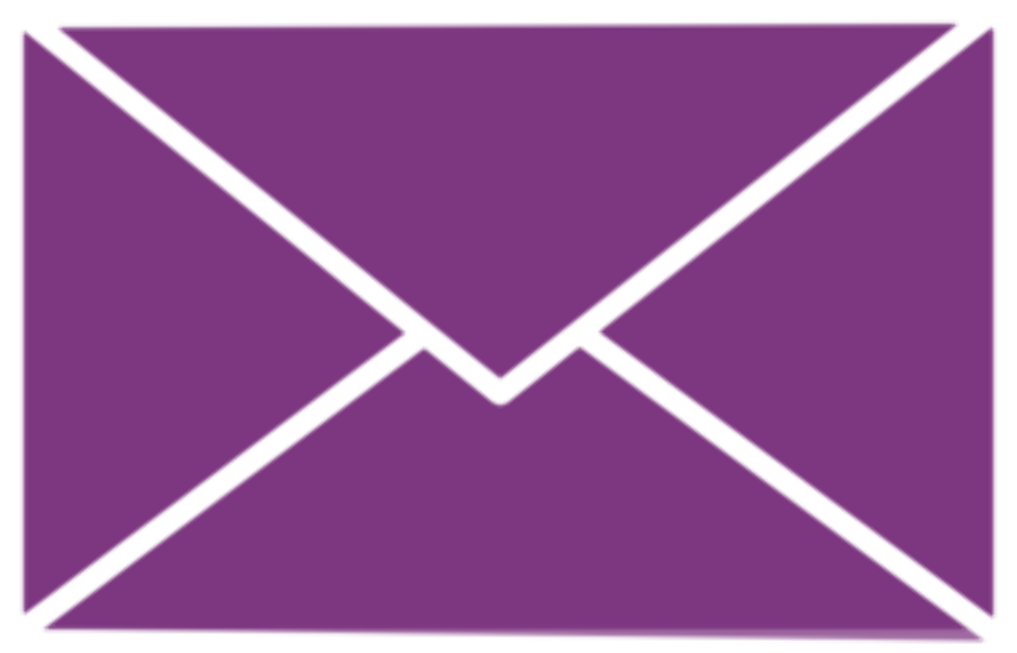 Email logo png purple