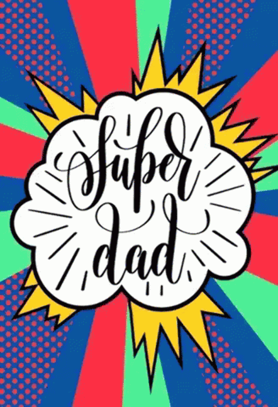 Download Super Dad Logo Black And White PNG Image with No
