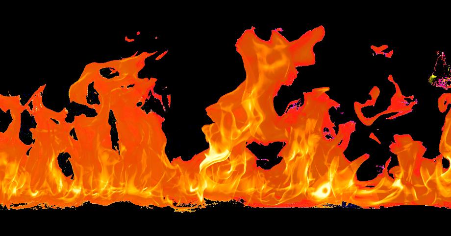 Fire transparent overlay