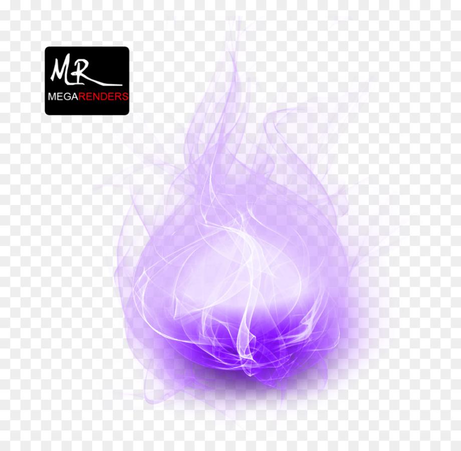 Fire transparent background purple