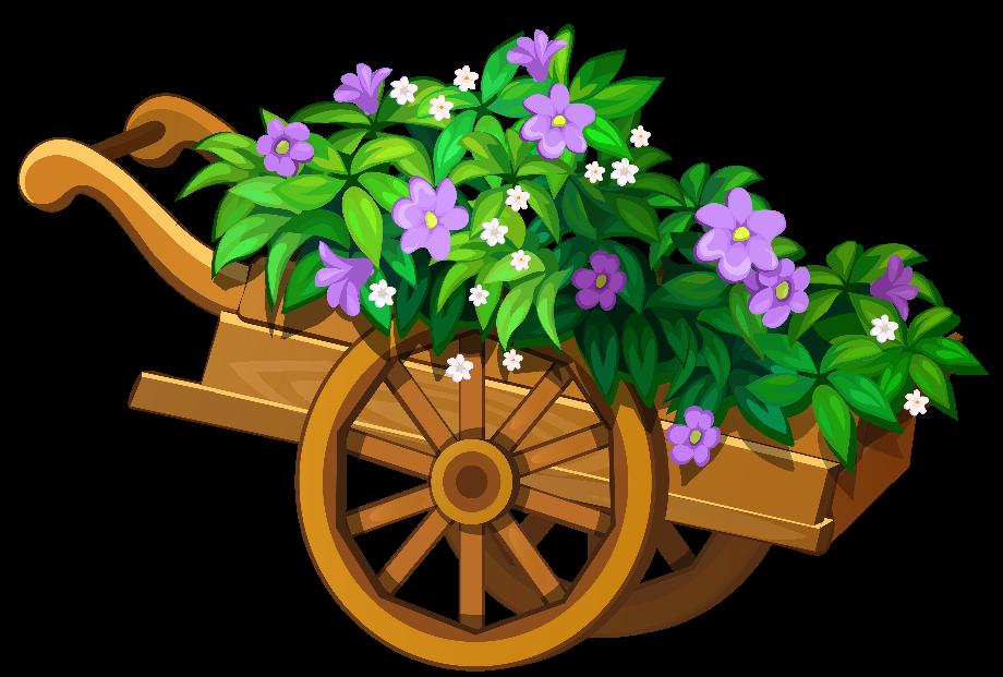 Flower clipart garden wooden