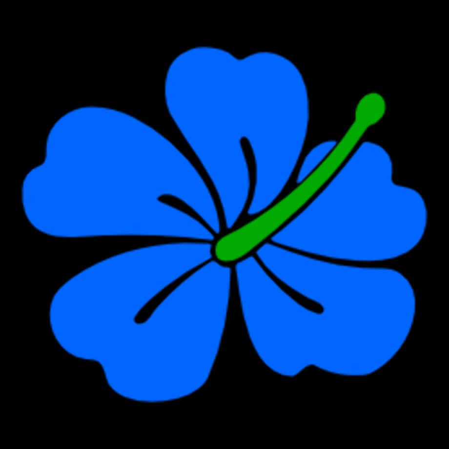 hibiscus clipart blue