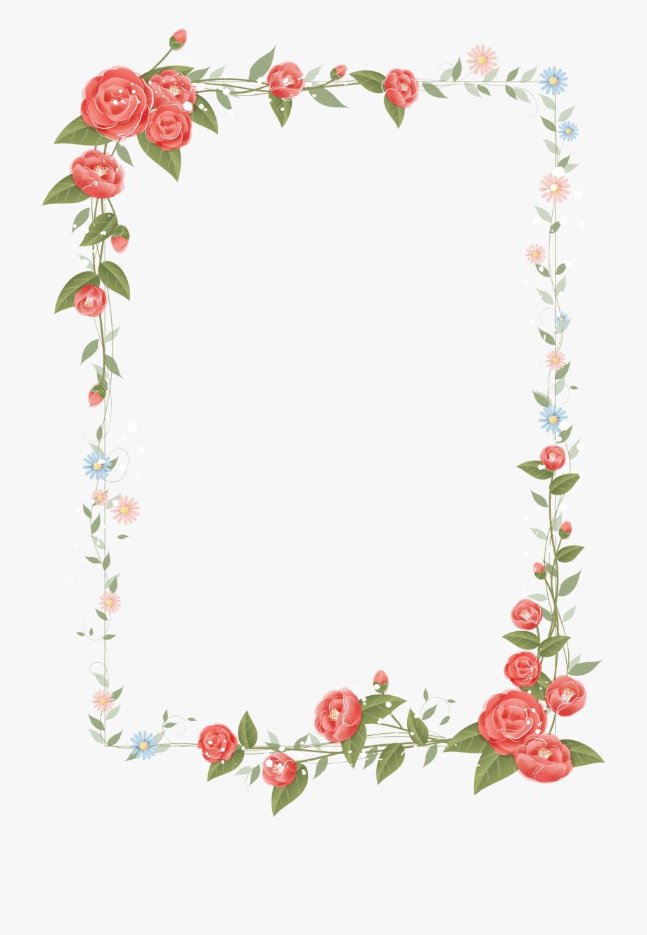 Transparent flower frame