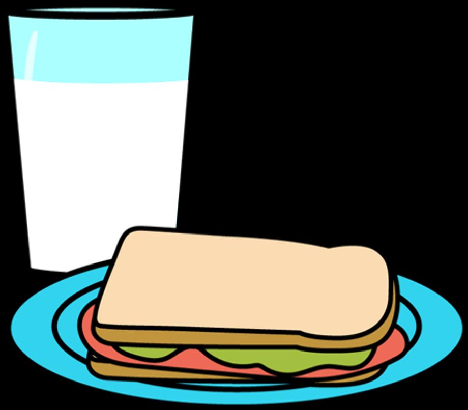 Food clipart milk glass