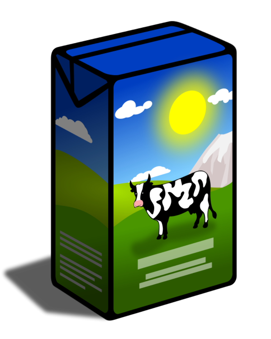 Food clipart milk can