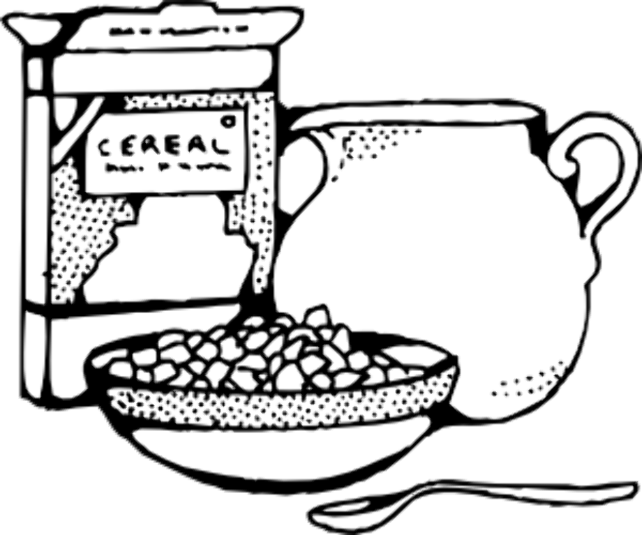 Food clipart milk cereal