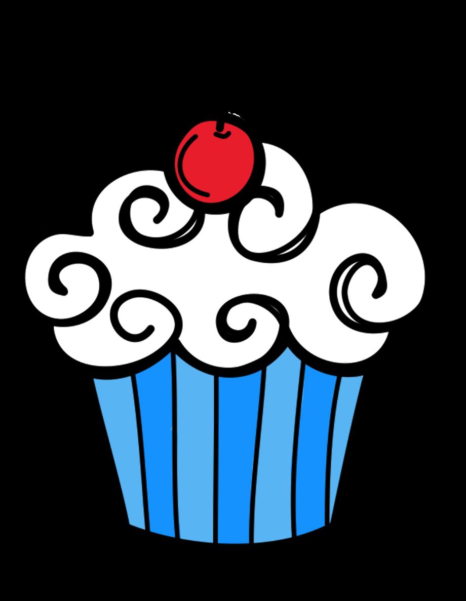 cupcake clipart simple