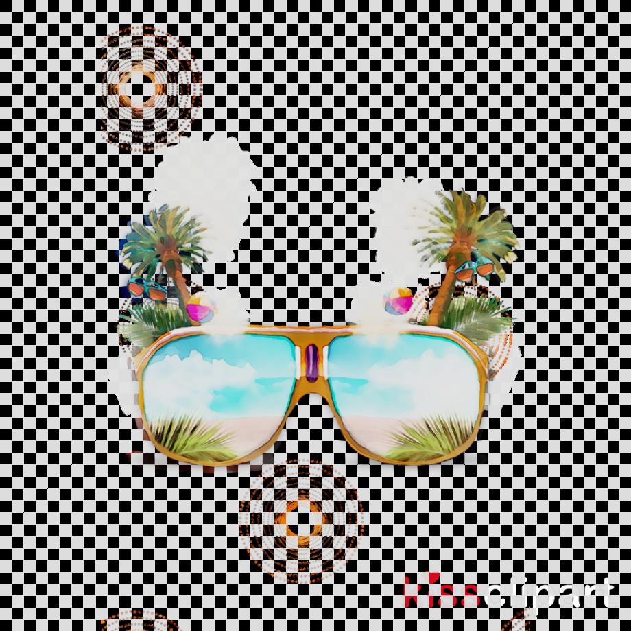 Glasses clipart summer background