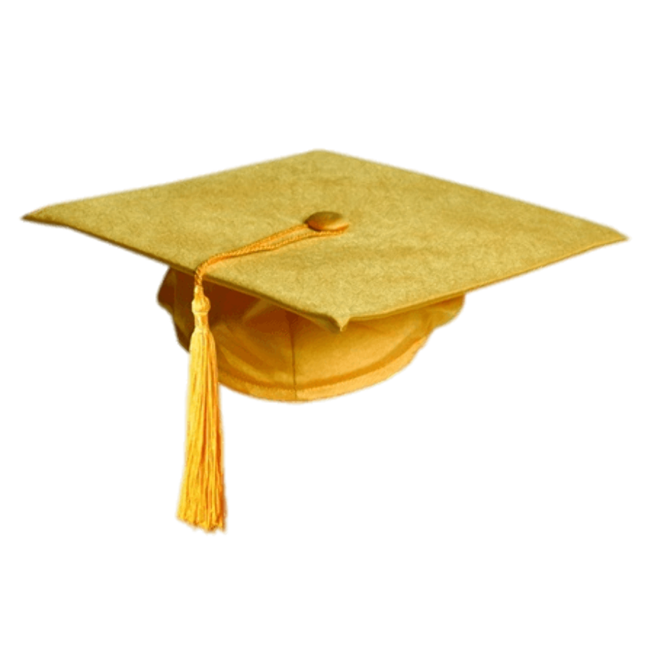Download High Quality graduation cap clipart gold ...
