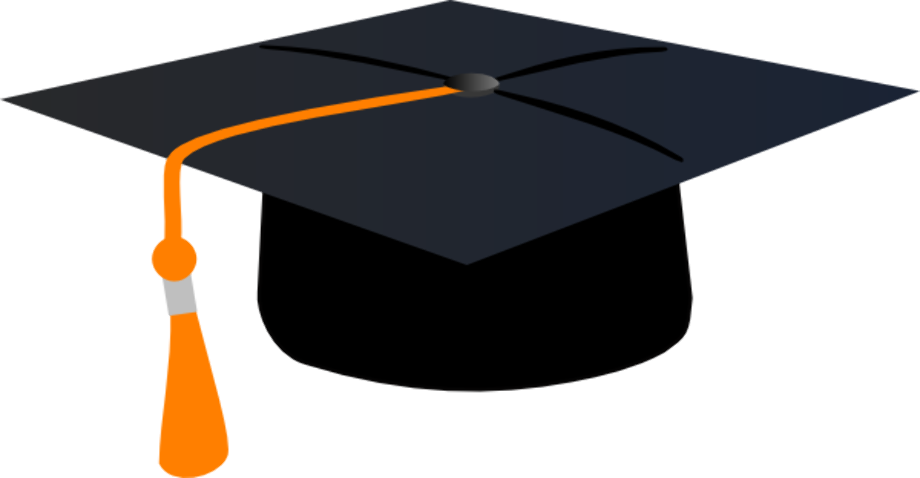 Download High Quality graduation cap clipart orange ...