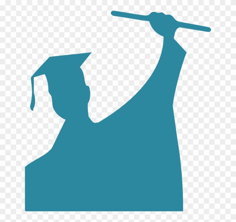 graduate silhouette clipart - 900×749