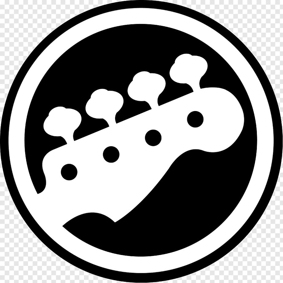 Guitar logo white and