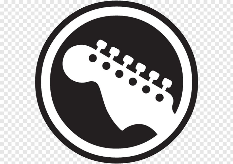 Guitar logo white hero