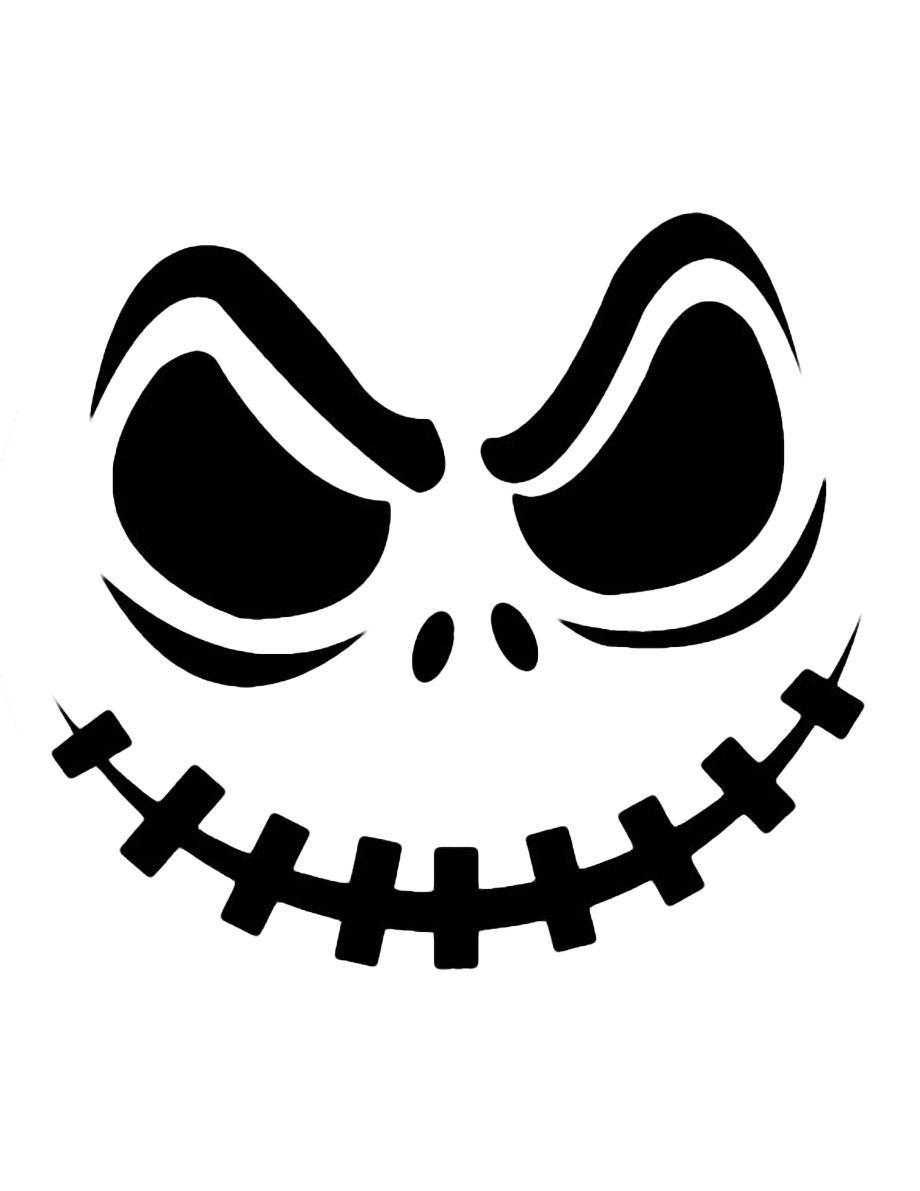 Pumpkin black and white creepy