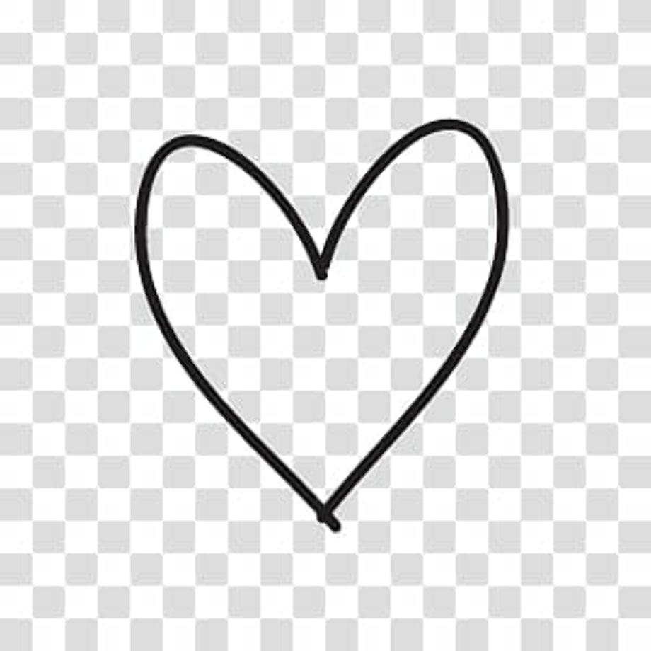 Transparent hearts doodle