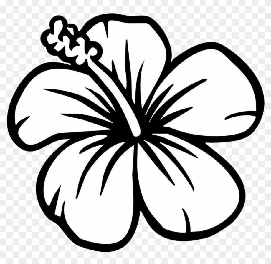 hibiscus clipart outline