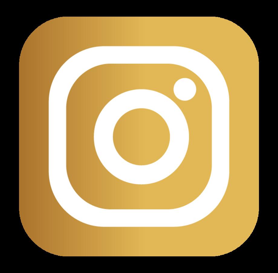Instagram logo transparent background gold