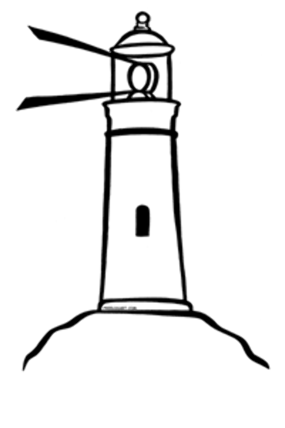 Lighthouse outline