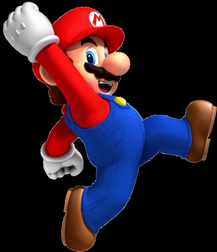 Mario transparent jumping