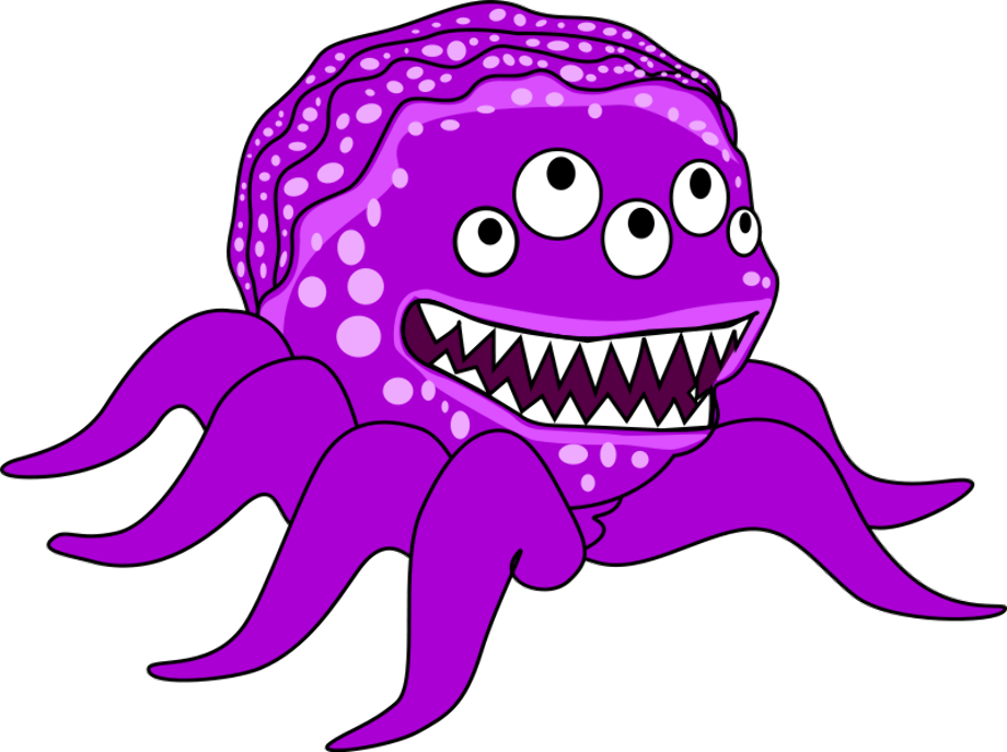 Microsoft clipart weird monster