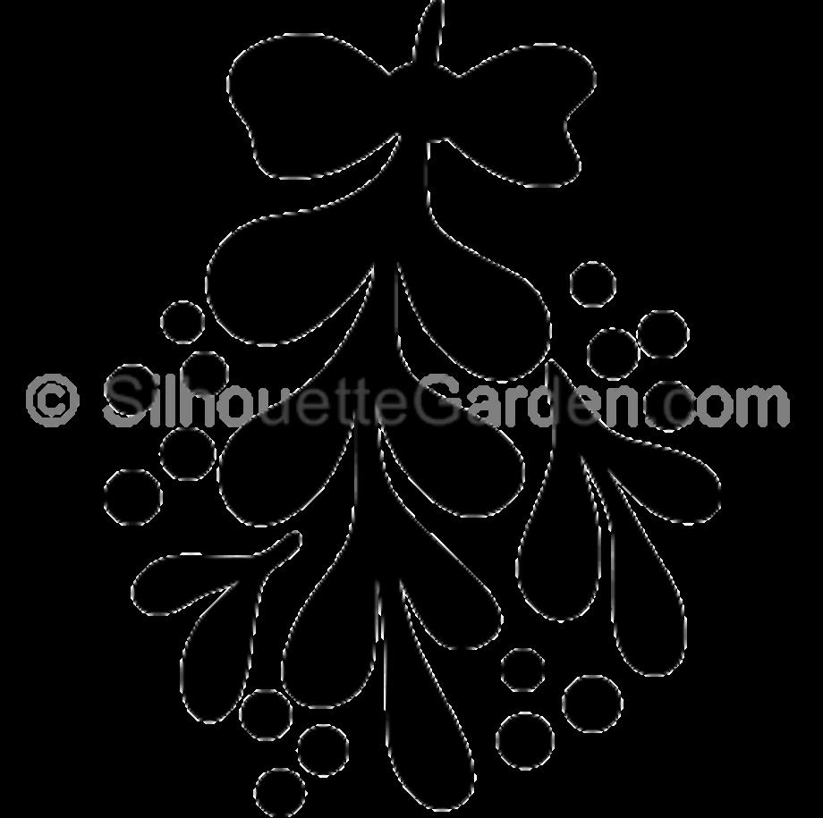 Mistletoe clipart silhouette pin