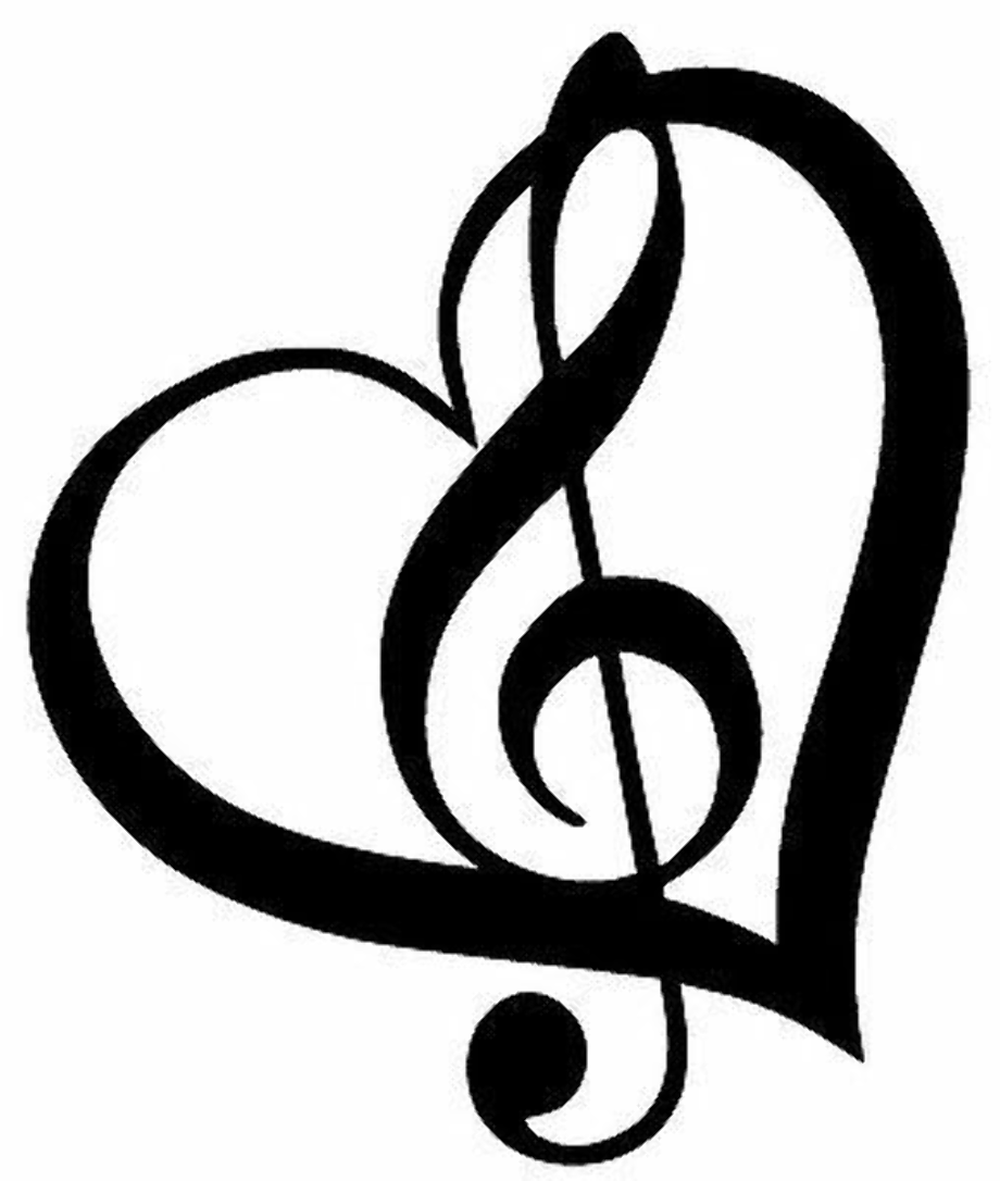 Music note heart