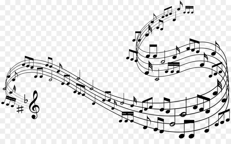 Music notes transparent decorative
