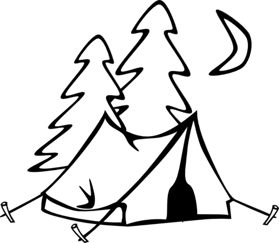 camping clipart white
